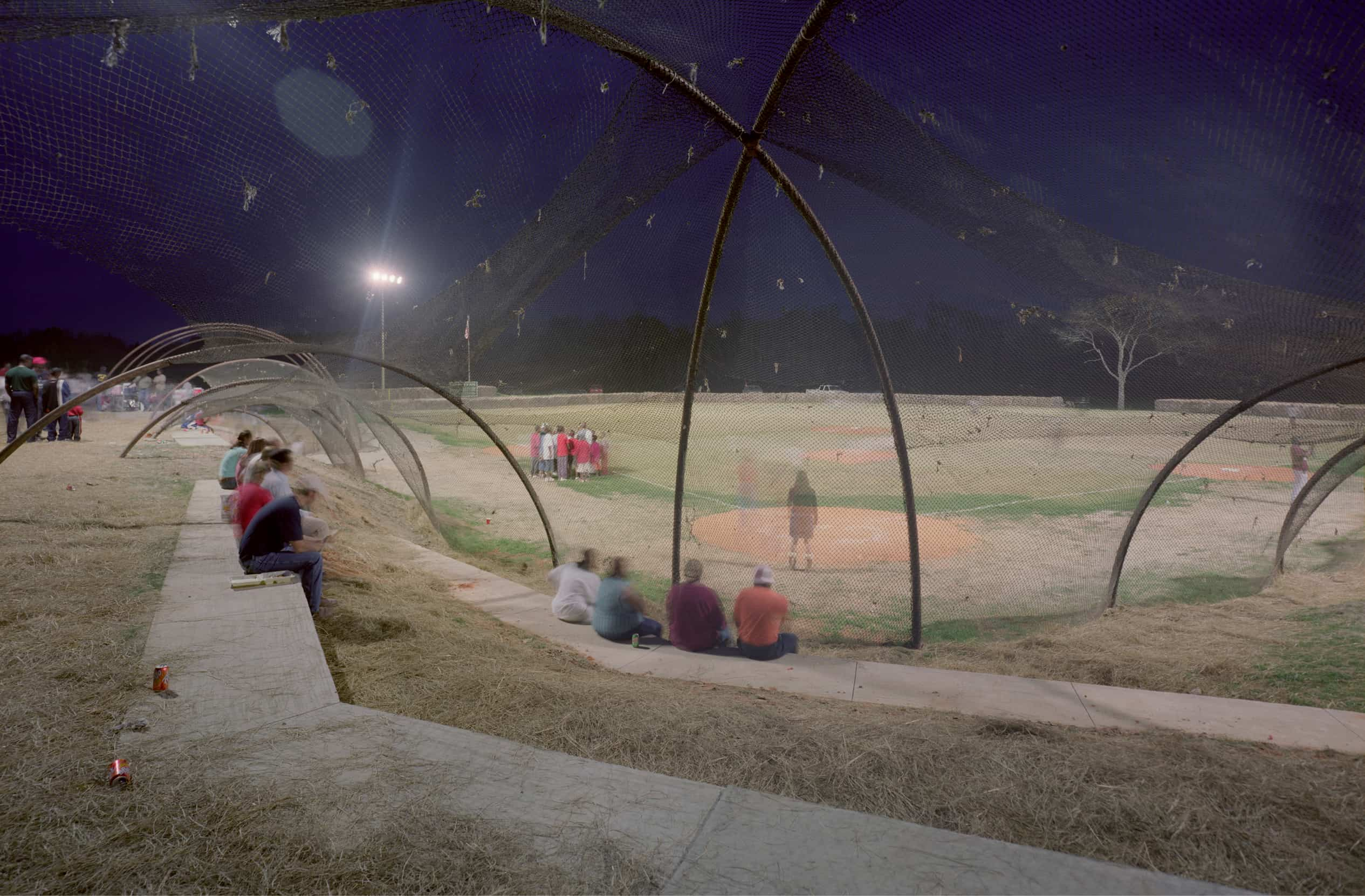 night time at the baseball fields