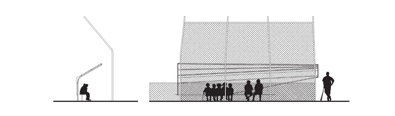 Architectural drawing of the Lion's Park Baseball Fields