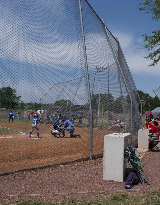 Little League game at the Lion's Park Baseball Field