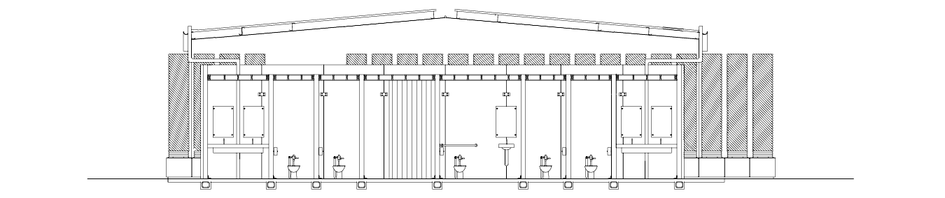 Architectural sketch of Lion's Park restrooms