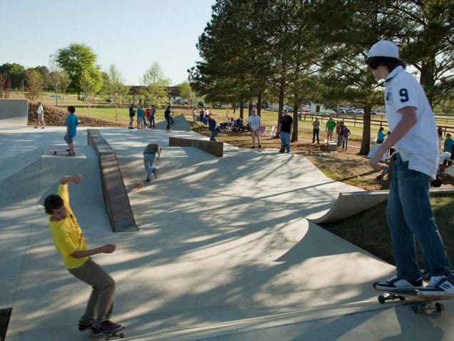 A busy day at the skatepark