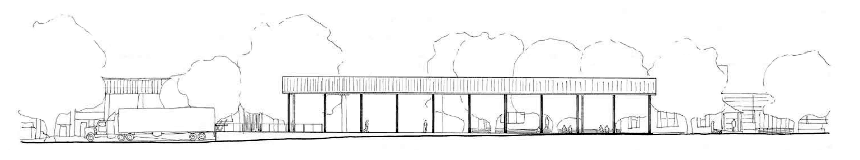 fabrication pavilion sketch
