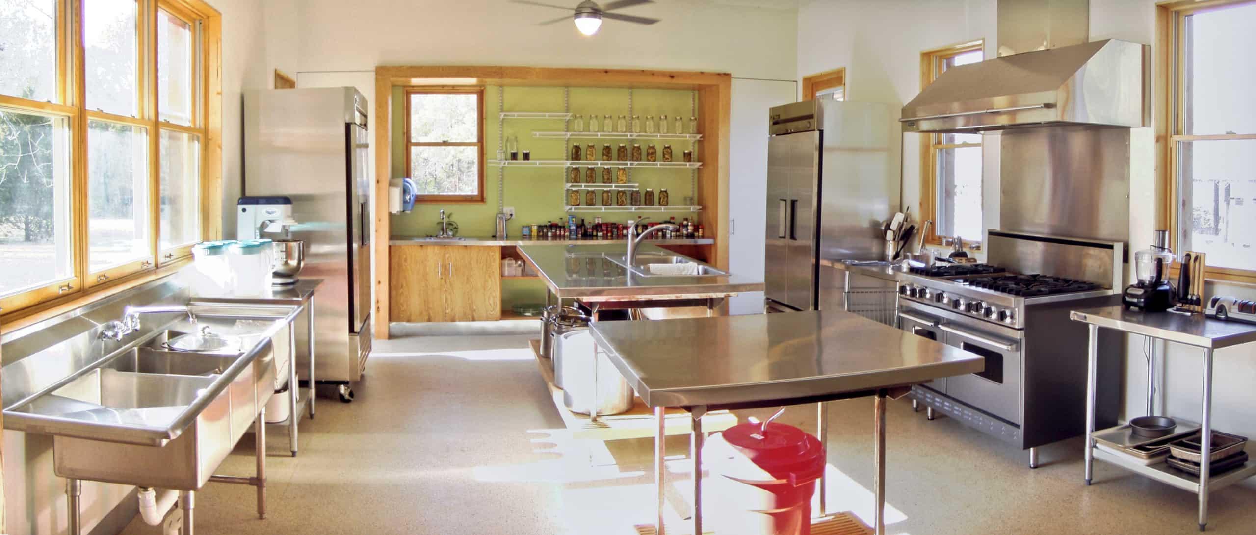 wide angle shot of kitchen