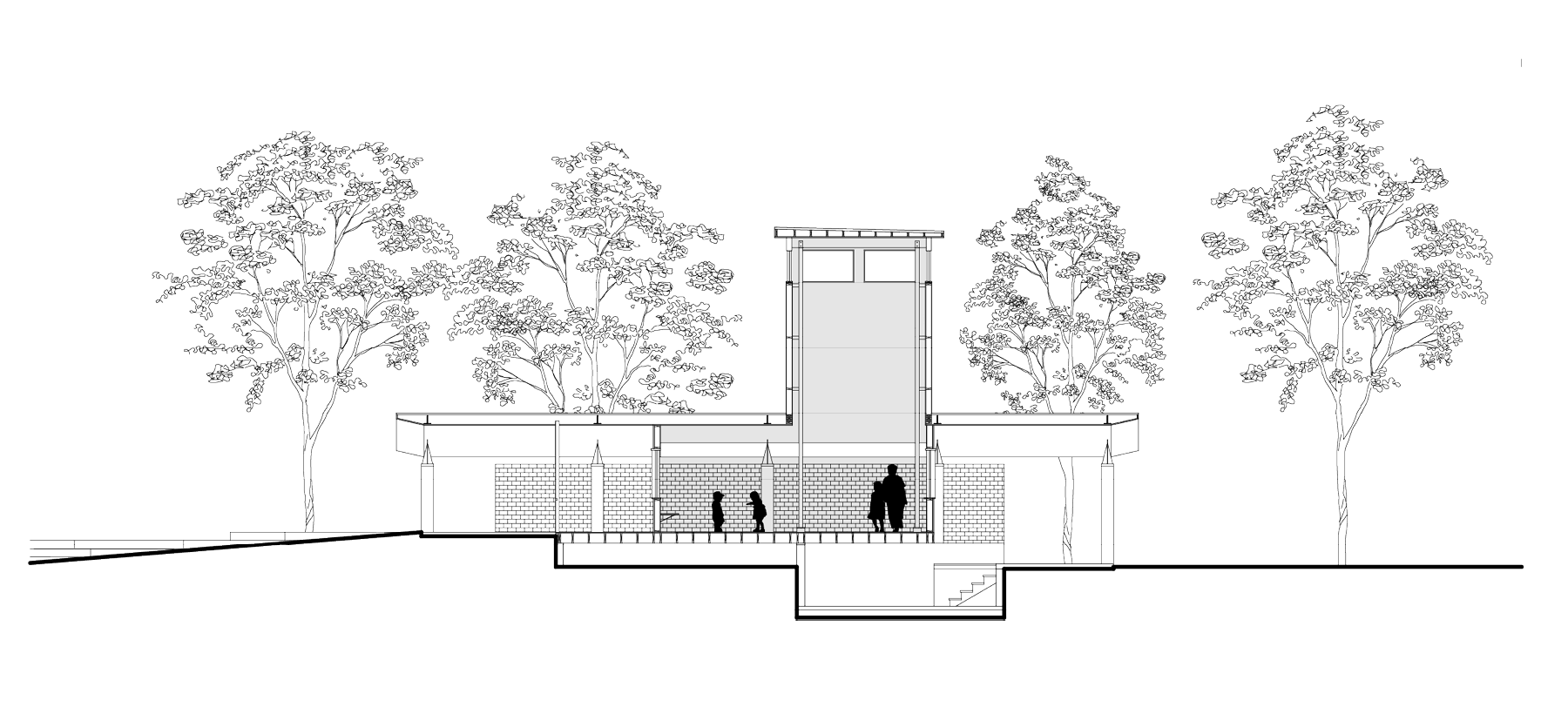 plan showing side view rendering of christine's home