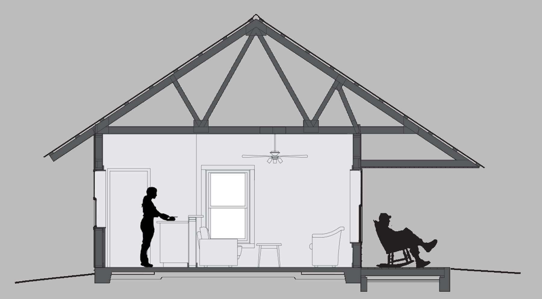 rendering of Eddie's home cross section