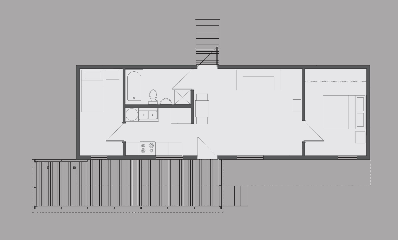 aerial plan of Elizabeth's house