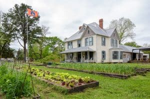 Morissette House and the organic farm