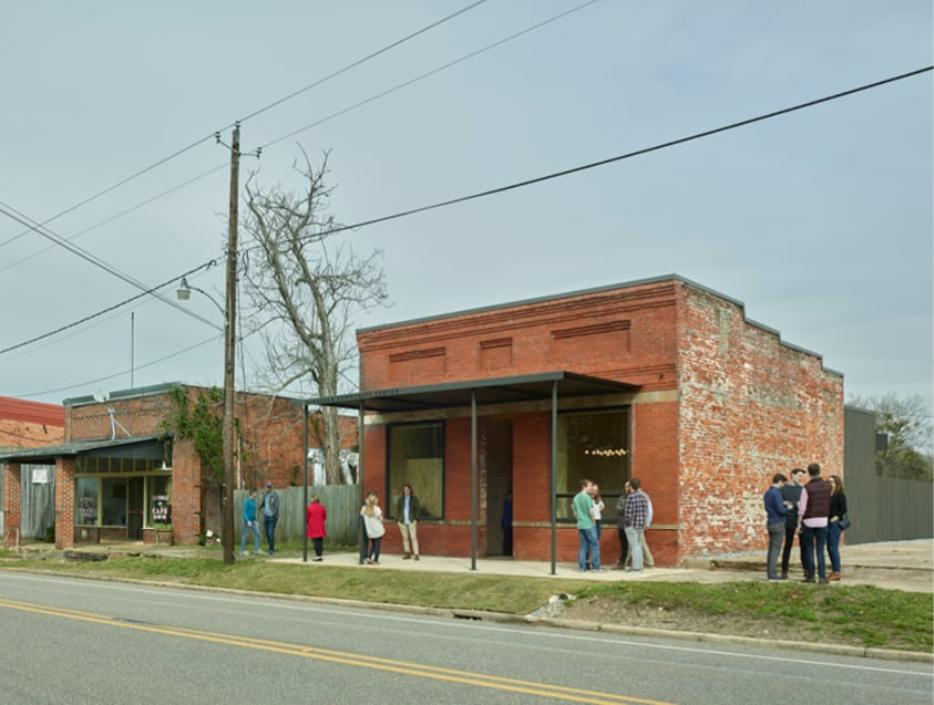 image of Faunsdale Community Center with people in front