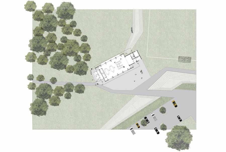 aerial rendering of hub