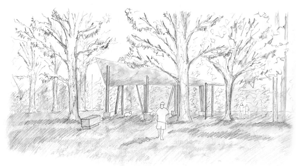 pencil sketch entrance