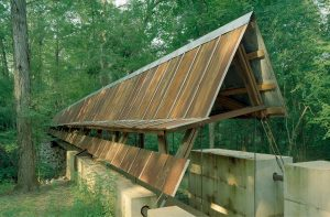 Front view of the Perry Lakes Park Bridge