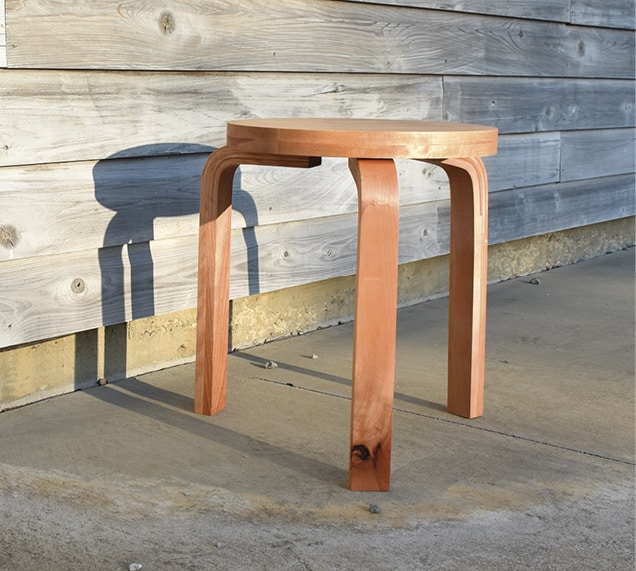 Three-legged stool made in the chair-making class