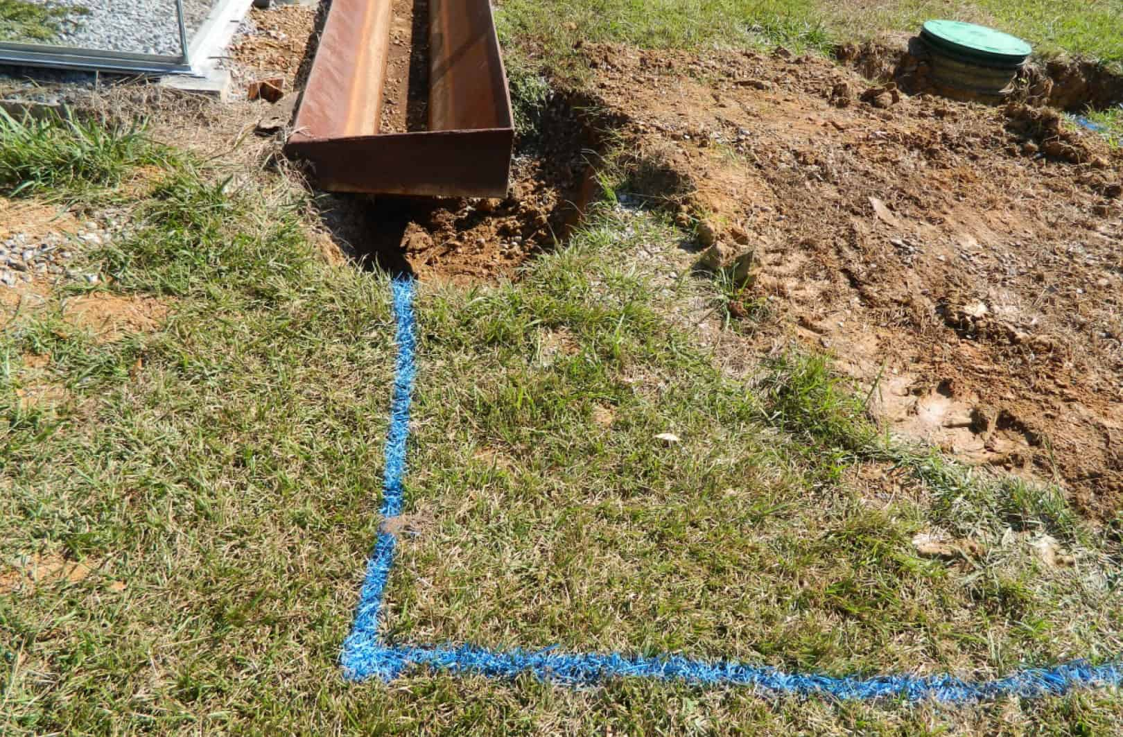 rainwater trough