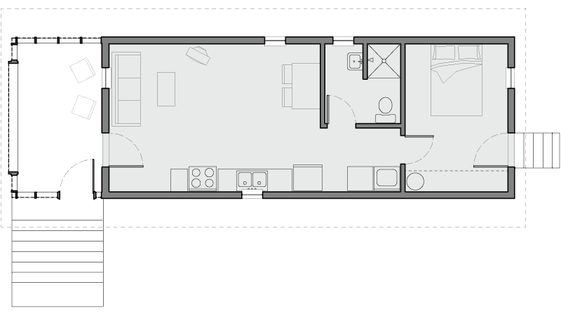 Architectural floorplan of Dave's Home