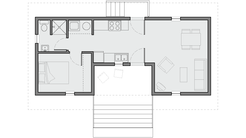 Architectural floorplan of Macarthur's Home