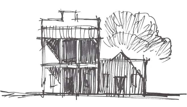 Sketch of the red barn
