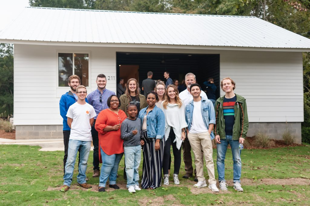 Students and homeowner