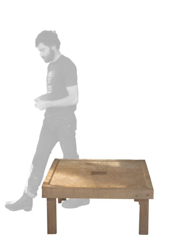 student by wooden base