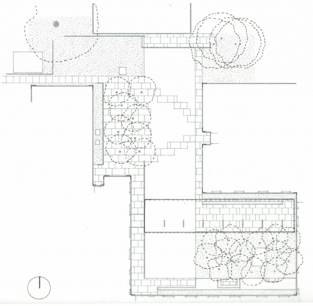 plan drawing of hospital courtyard