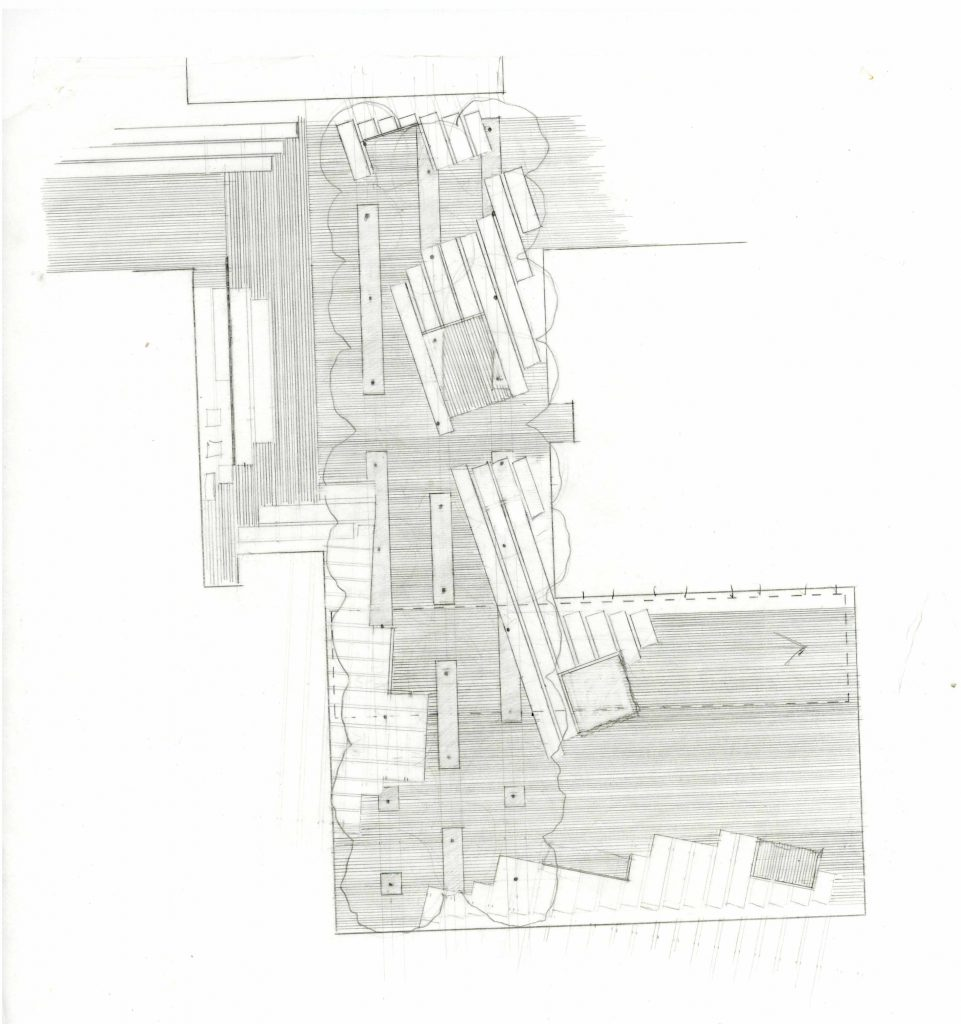 plan drawing of hospital courtyard