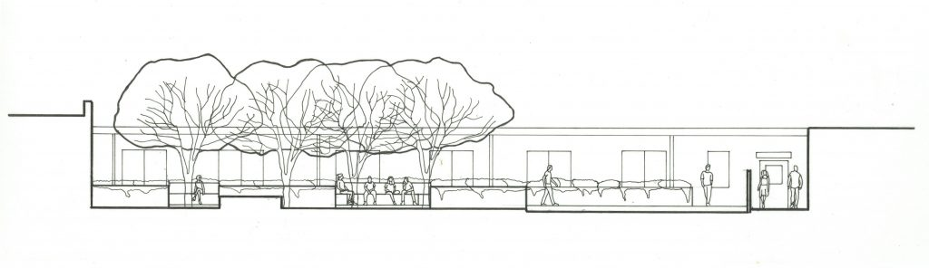 section drawing of seating