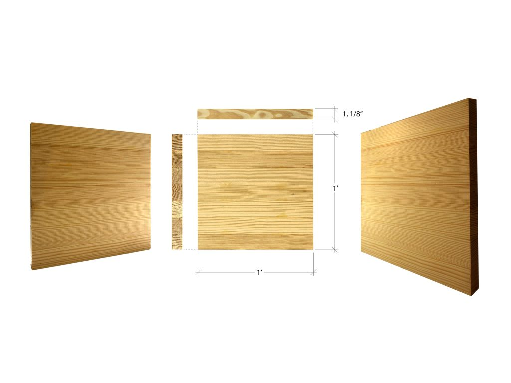 views and dimensions of softwood thermal mass panels