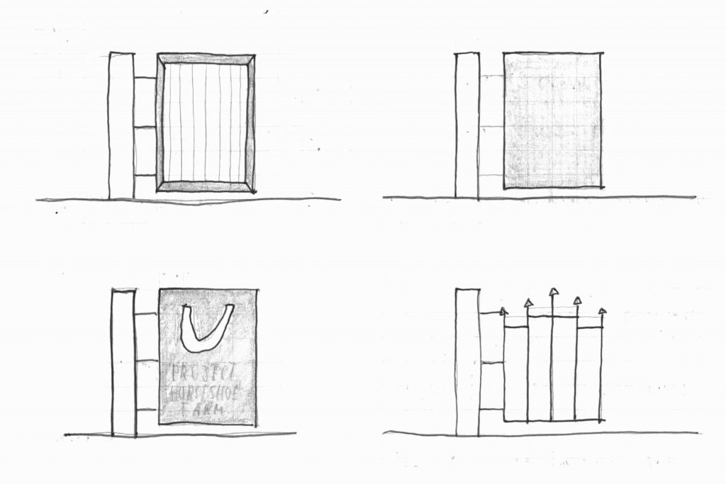 Concept sketch of gate designs