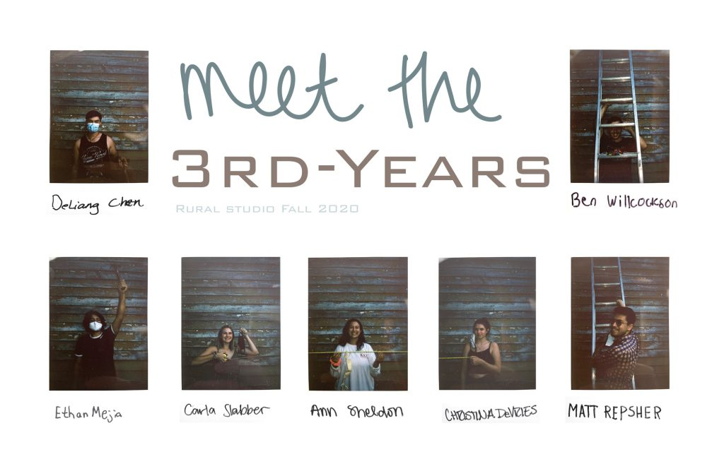 "A series of student Polaroids with title ""Meet the Third Years"""