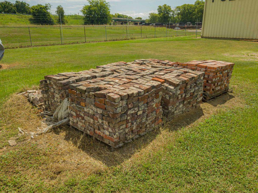 Bricks on palettes