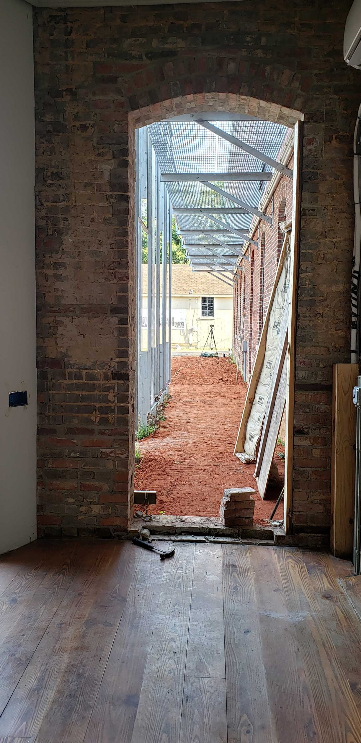 View from main hallway into courtyard