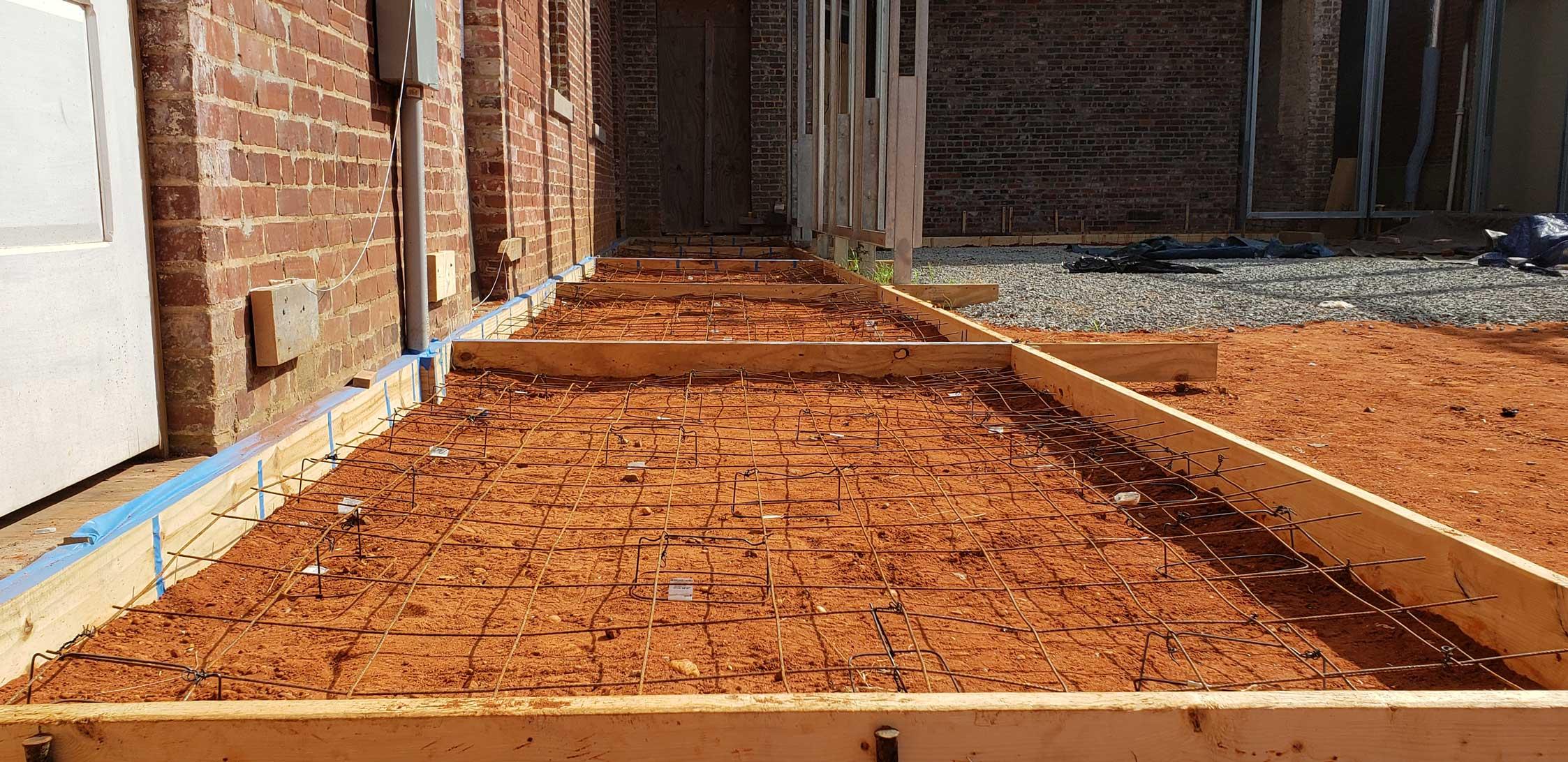 Formwork pre-concrete pour