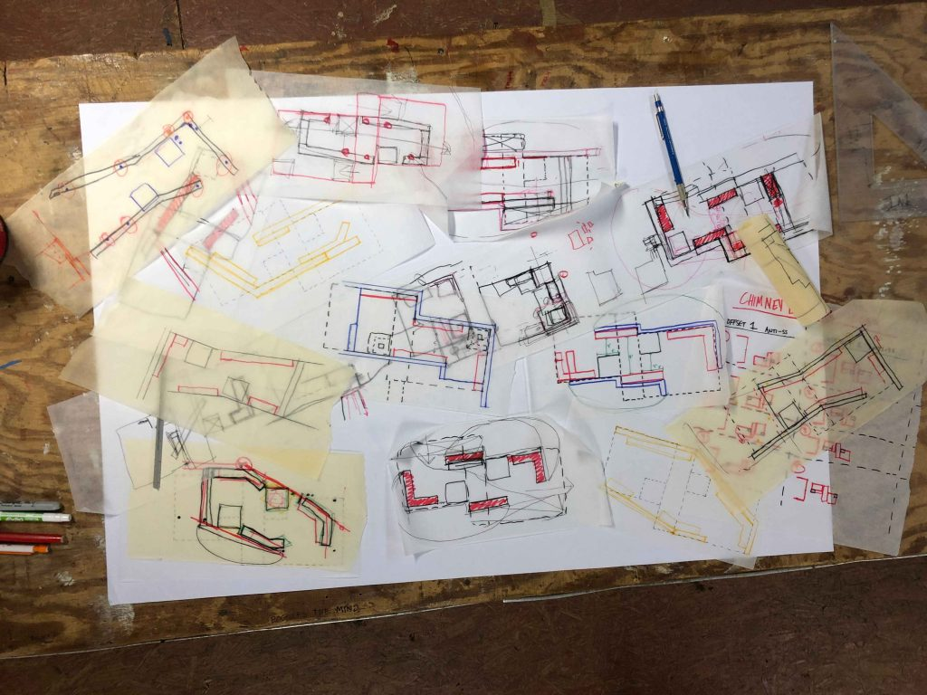 sketches of cooling patio seating arrangements