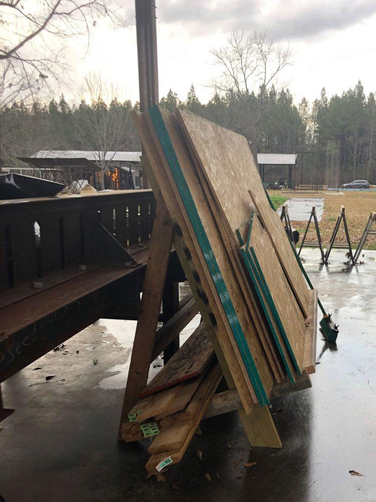plywood storage wood rack