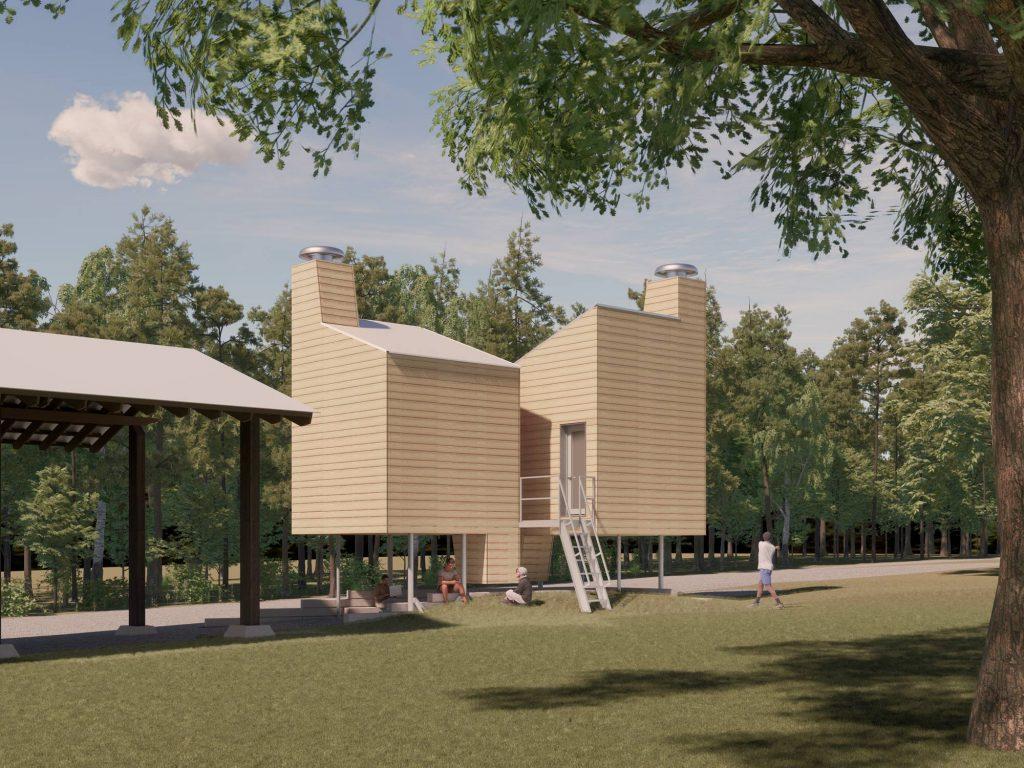 Enscape rendering of Test buildings