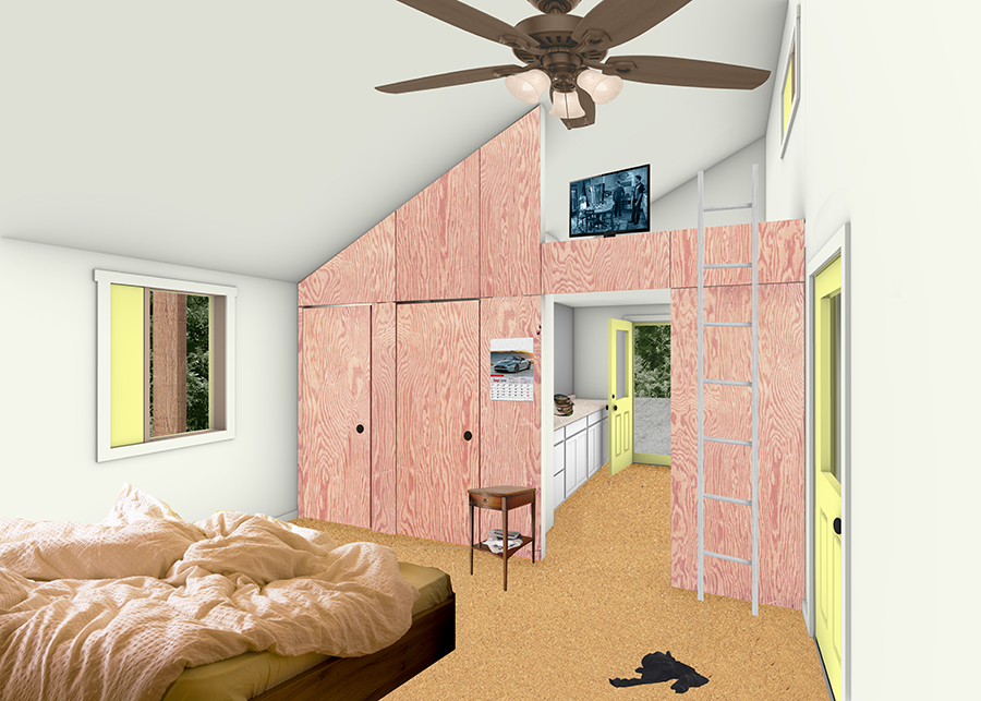 render of living interior