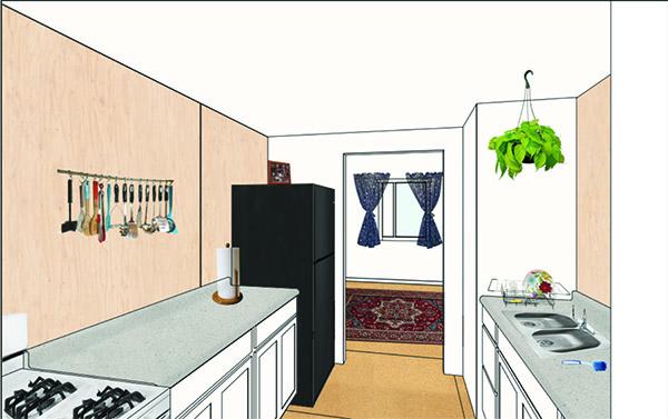 rendering of kitchen interior