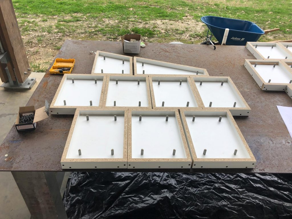 concrete panel mock-up wall layout