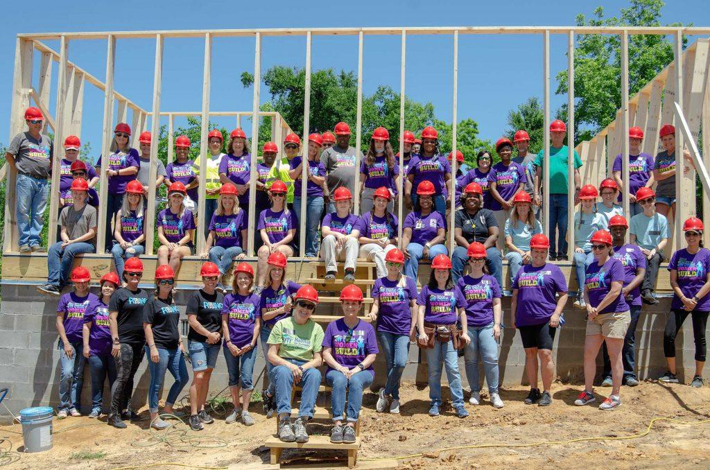 Volunteers for the 2021 Women Build