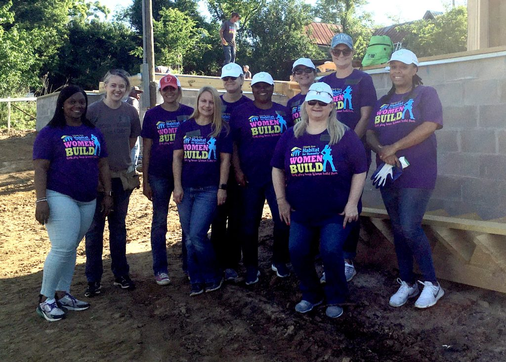 Small group of volunteers at 2021 Women Build