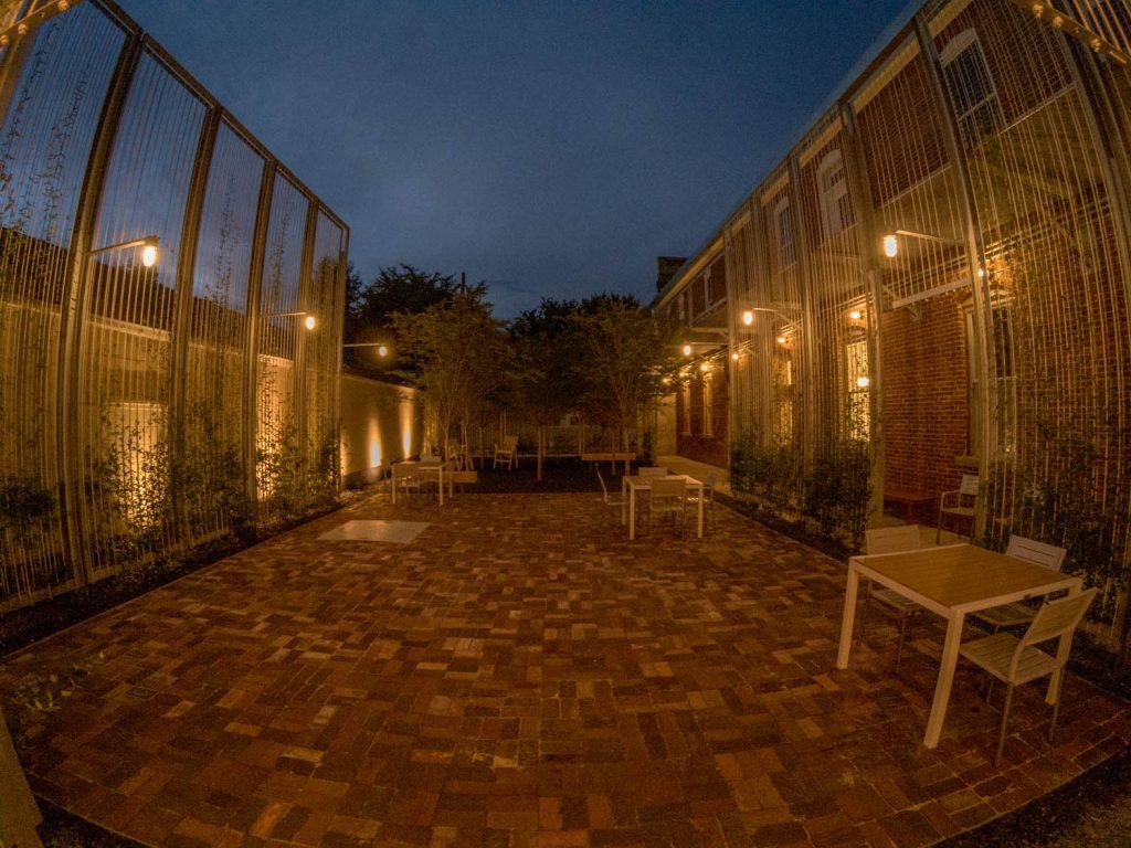 Image of courtyard at night
