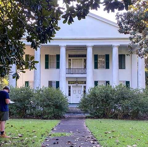Front elevation of Magnolia grove for history class