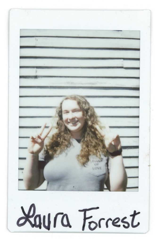 A polaroid of 3rd-year student Laura Forrest
