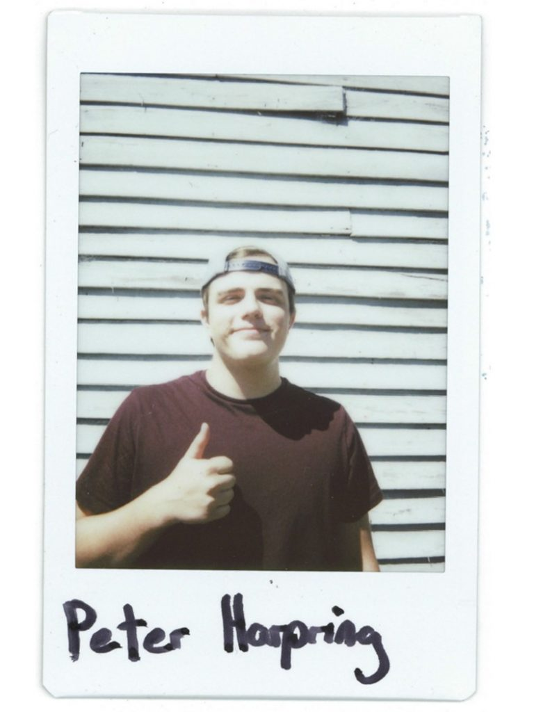 A polaroid of 3rd-year student Peter Harpring