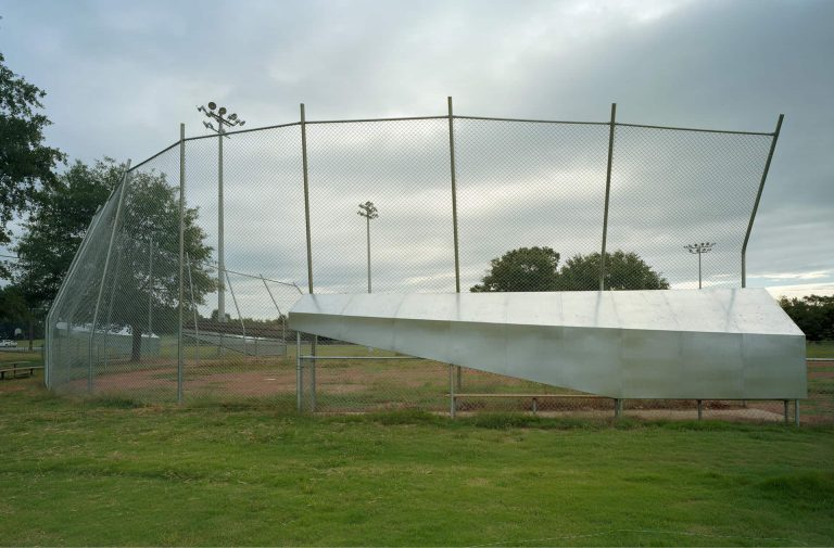 The fence at the Lion's Park Baseball field