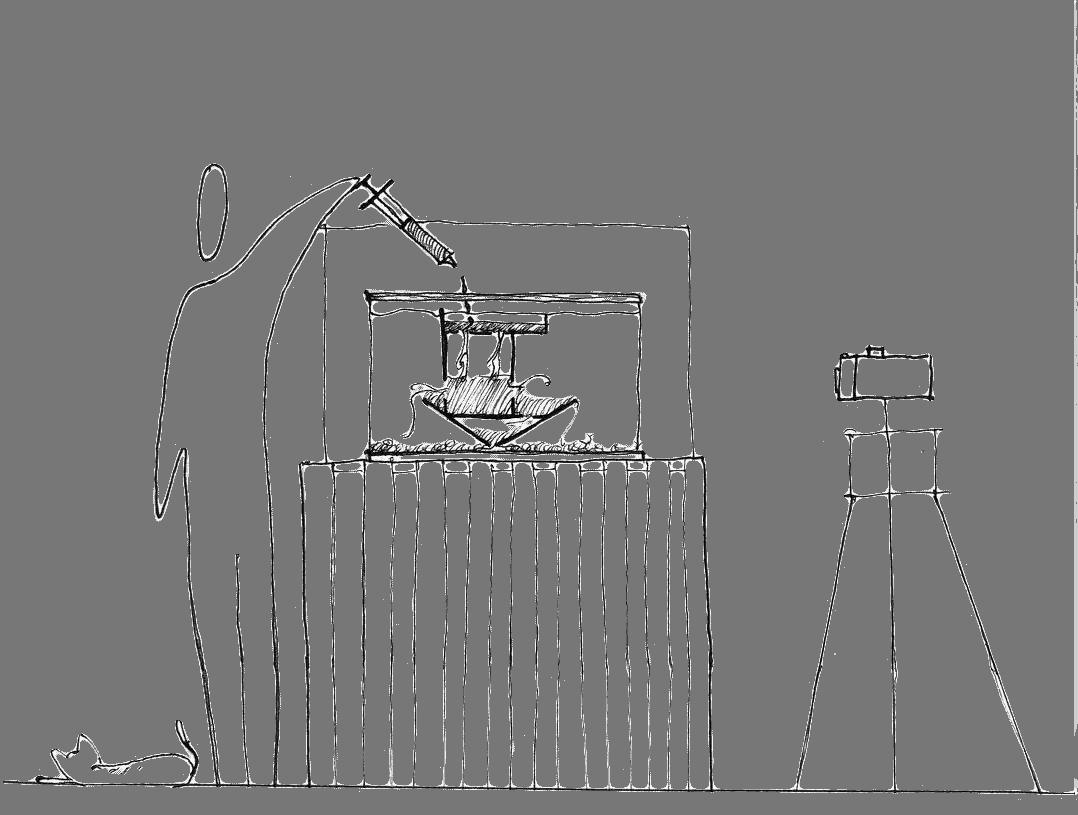 fish tank experiment drawing
