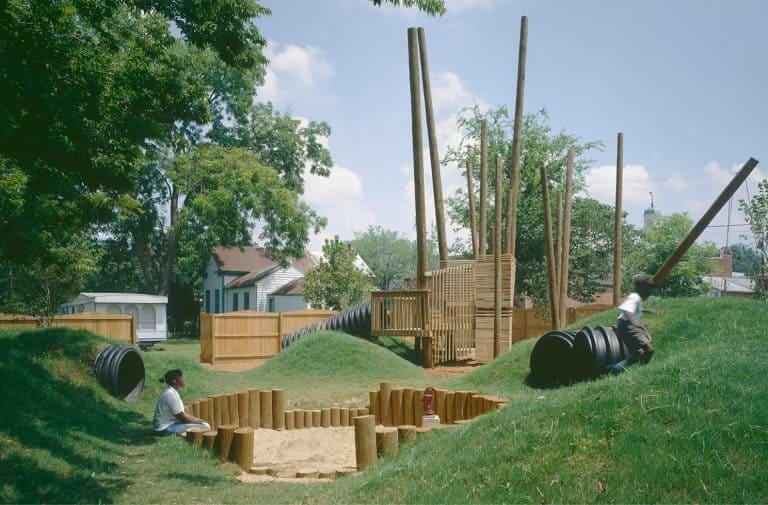 Children playing on the HERO playground