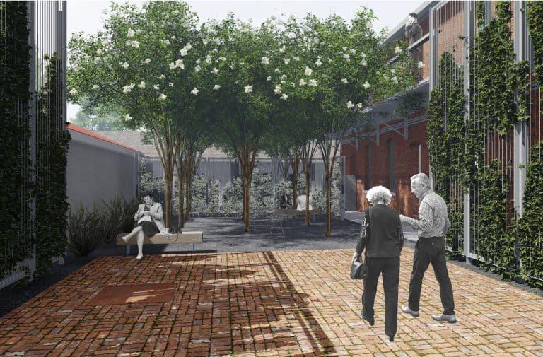 courtyard digital rendering