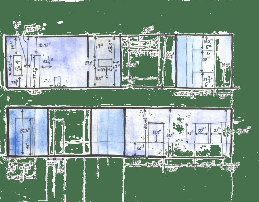rees home hand-drawn blueprint