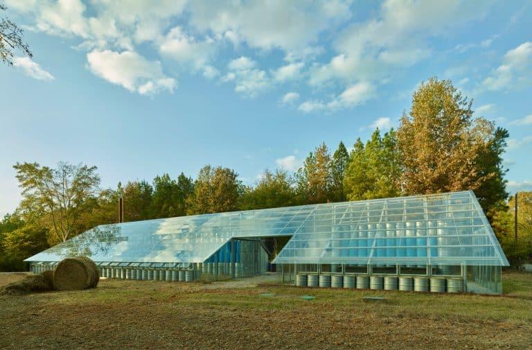 Solar Panels on Greenhouse
