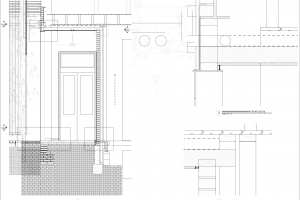 Detail drawings of porch cladding